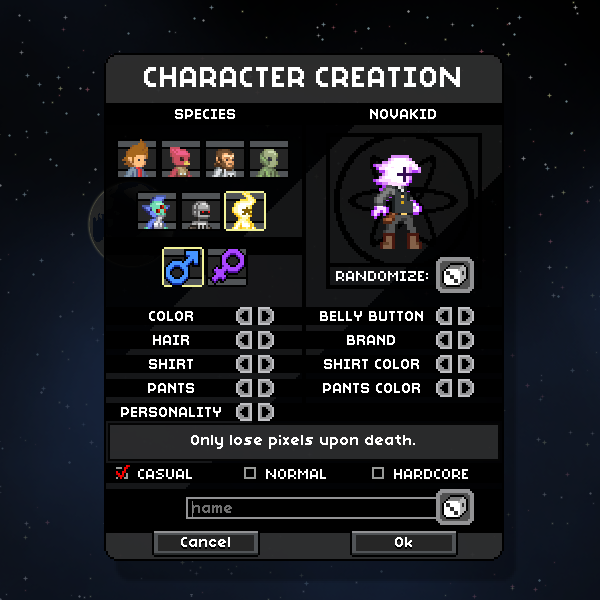 Starbound-Character-Creation