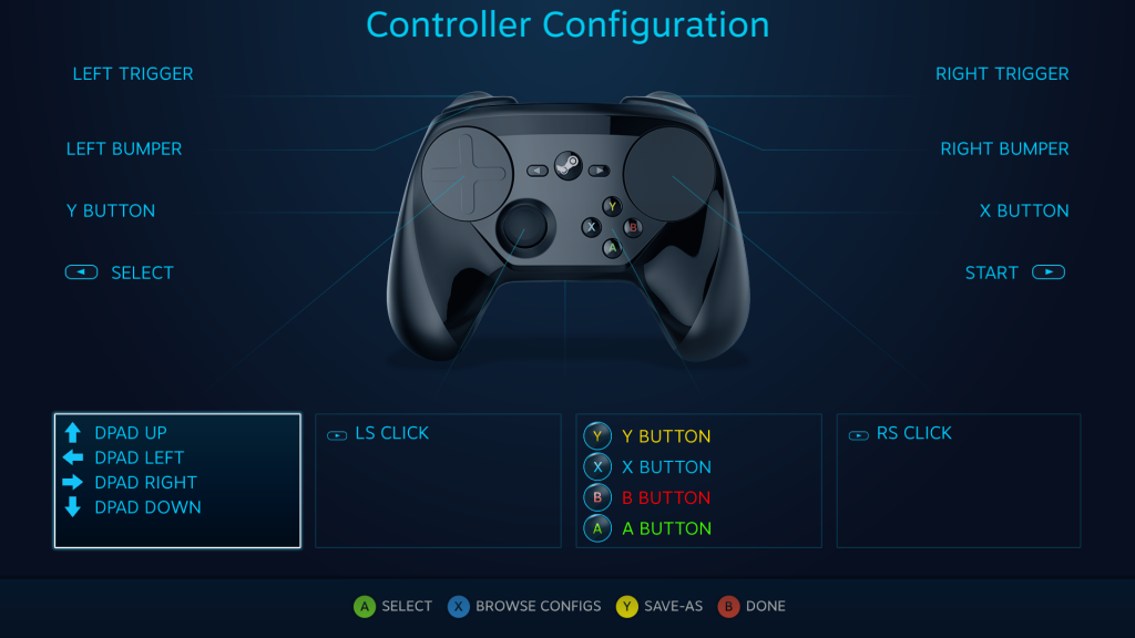 steam controller custopmizti