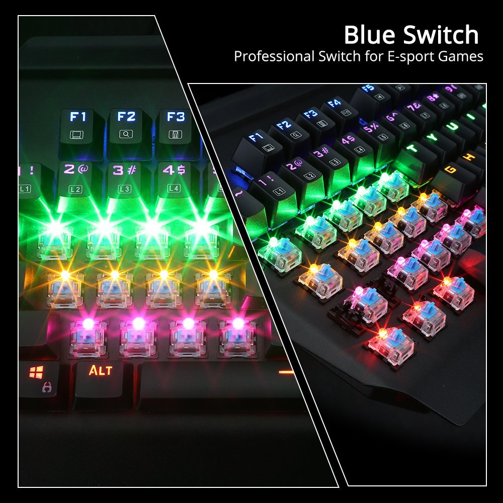 blue switch mechanical gaming keyboard