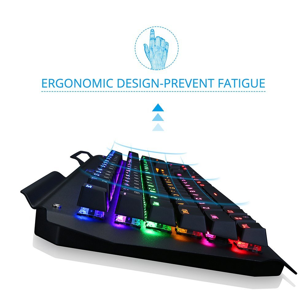 ergonomic mechanical gaming keyboard