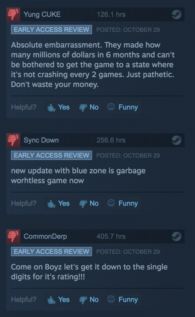 steam review system