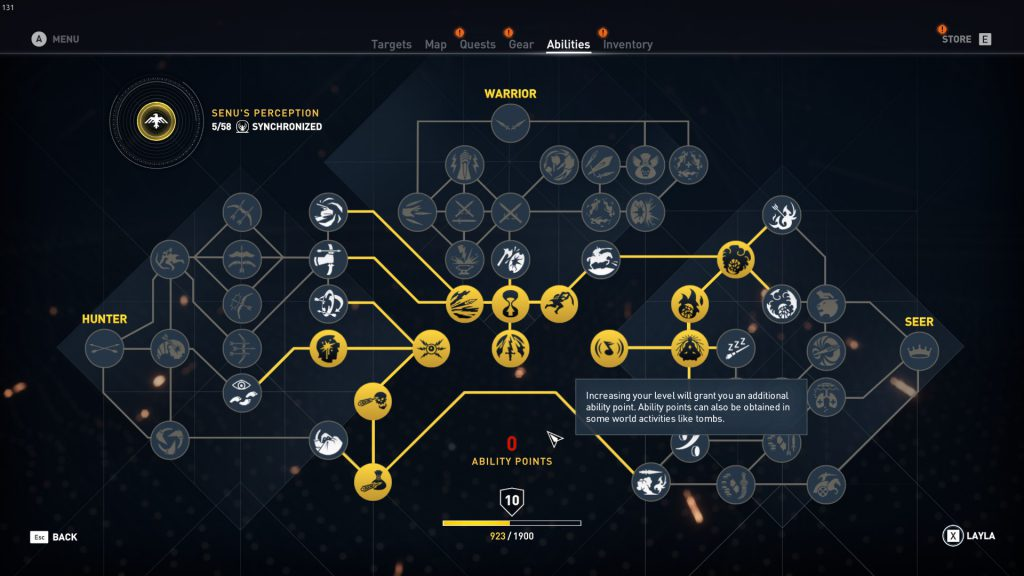 assassins creed origins skill tree