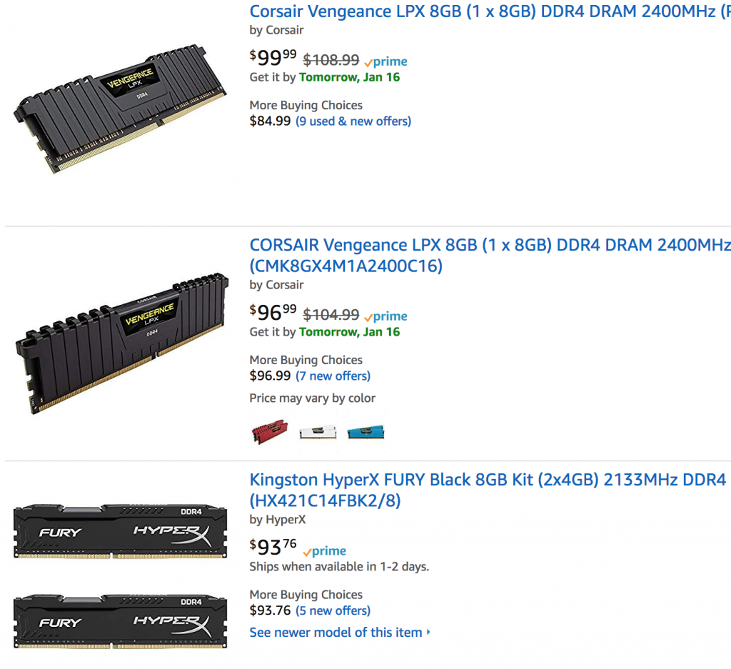 ram is overpriced