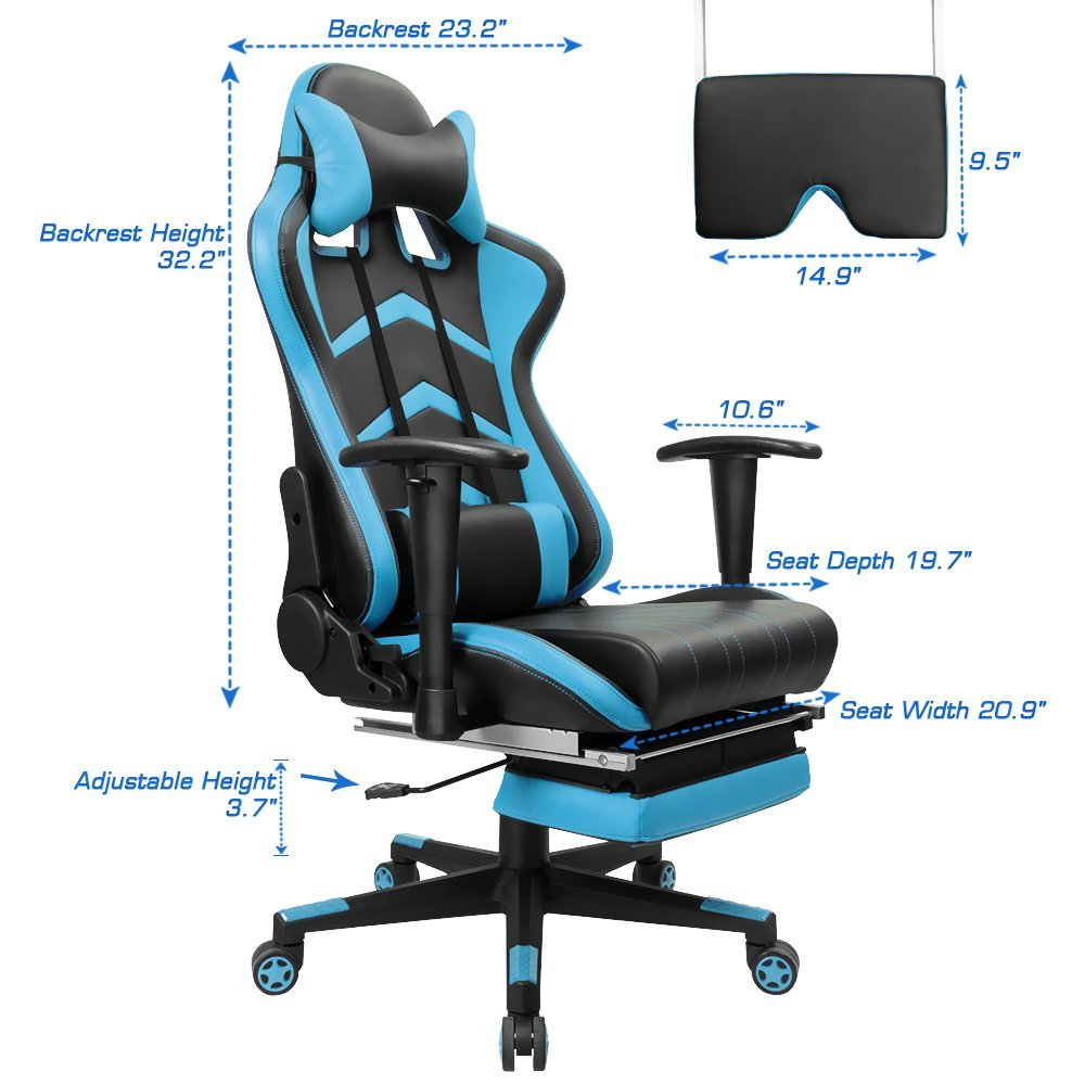 furmax gaming chair dimensions