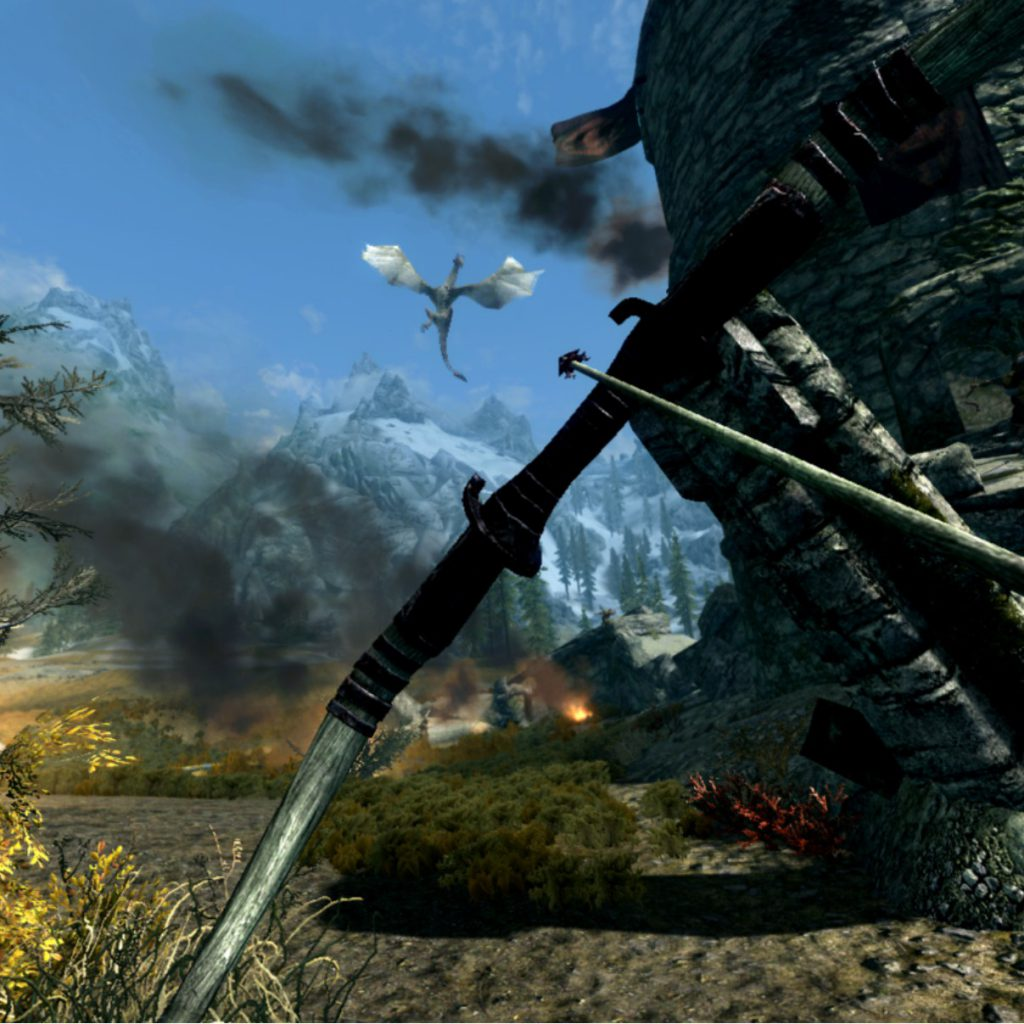 dragons in skyrim vr