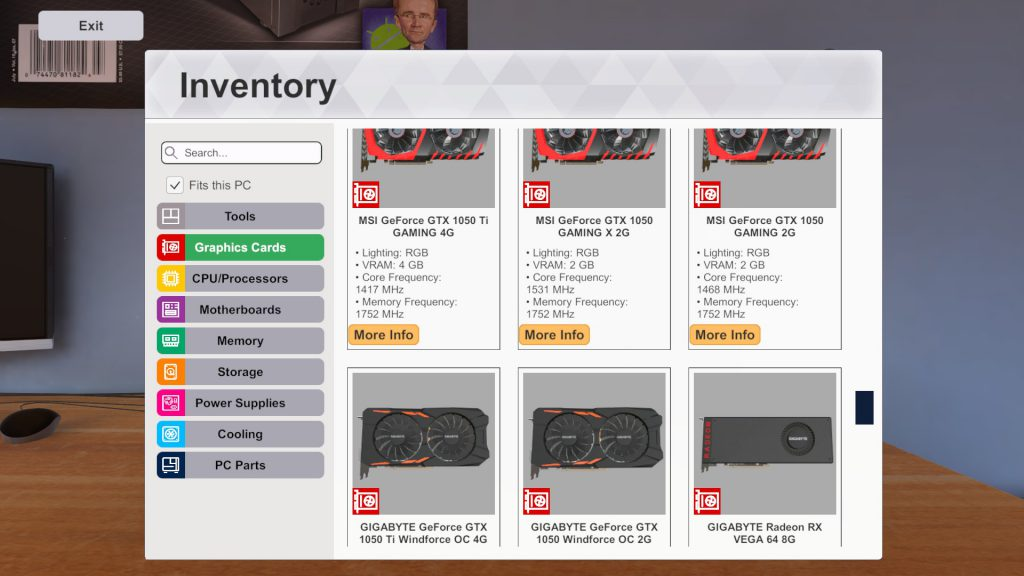pc building simulator free build mode