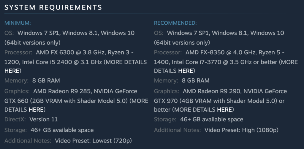 Assassin's Creed Odyssey System Requirements
