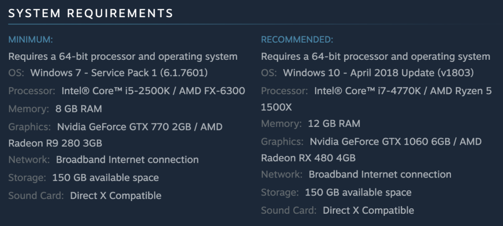 Read Dead Redemption 2 System Requirements